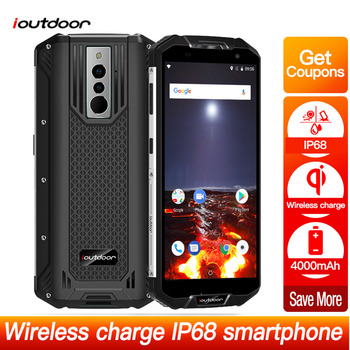 Ioutdoor Polar 3 Android 8.1 Rugged Smartphone 5.5HD+ 3GB+32GB IP68 Waterproof Dustproof Face ID Wireless Charging Mobile Phone mobile phone