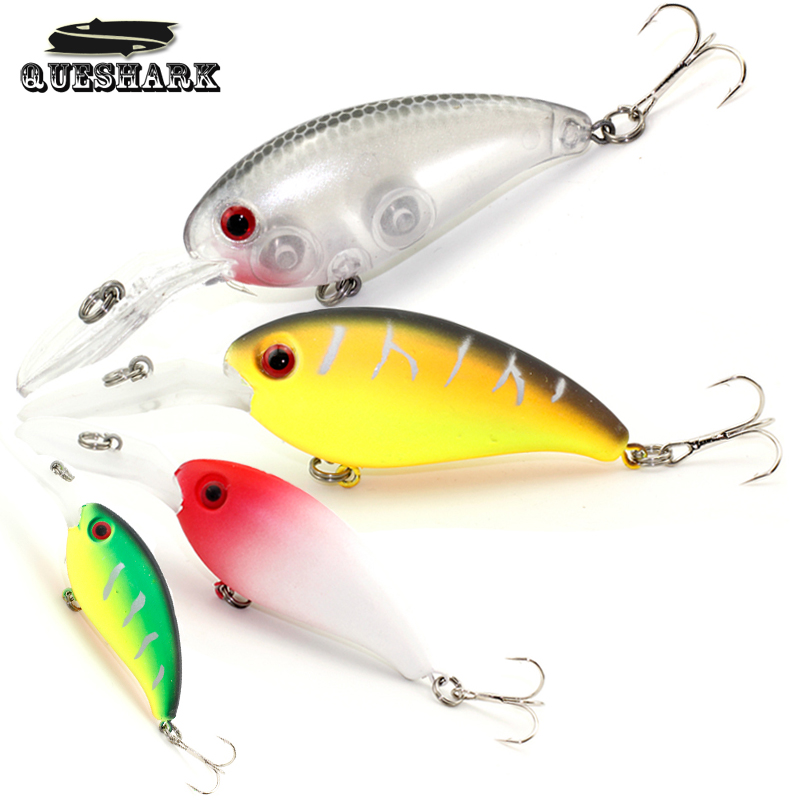 Queshark Swim Minnow Fishing Lure Artificial Rock Crank Hard Bait Topwater Wobbler Japan Mini Fishing Crankbait Lure 10cm-15g crankbait fishing lure 112mm 14g hard bait wobbler crank bait minnow lure 1 2 3 5m artifical peche with treble sharp hook