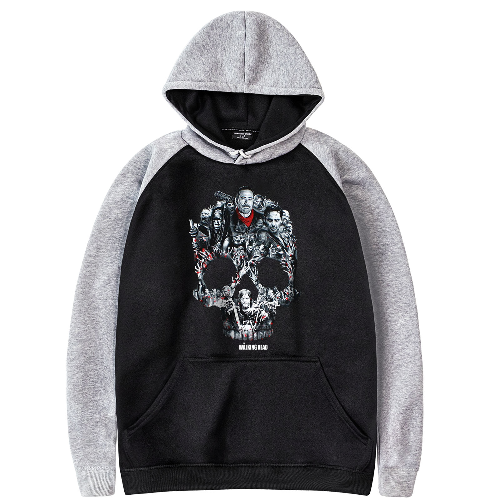 Skull Fashion Printed 2019 Fleence Pullover Hip Hop Men's Sweatshirt Casual Male Sportswear Hooded fleece Harajuku Spring Autumn