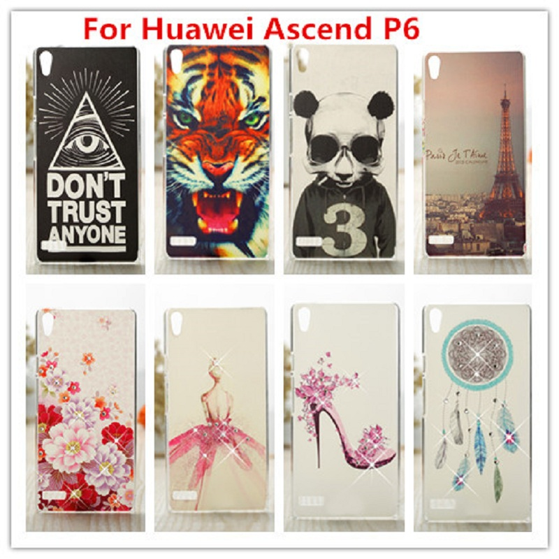 Luxury Crystal Diamond 3D Case for Huawei Ascend P6 / Bling Shine Hard Protector Case Cover Huawei P6 բջջային հեռախոսի համար
