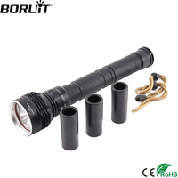 BORUiT 10000LM 5 XML L2 LED Diving Flashlight 100m Underwater Dive Scuba Torch Light Outdoor Emergency Portable Lantern 18650