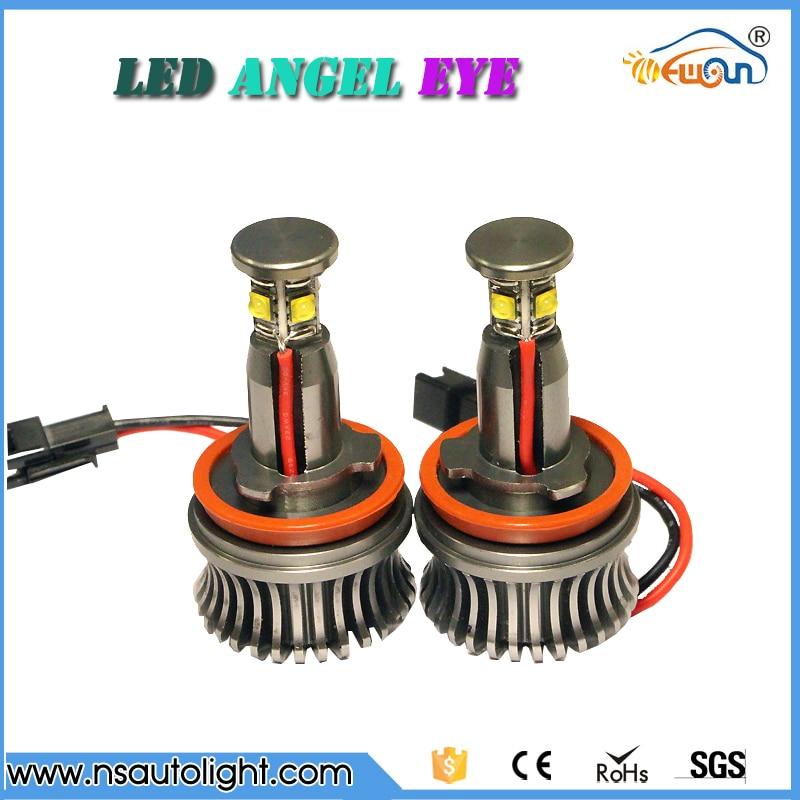 Error free 4*5W 20W CREE chips High Power H8 E92 LED Angel Eyes for BMW E90/E91/E92E93/F01/X1/X5/X6/Z4/E60/E61 pair error free canbus high power xenon white h7 for cree chips led kit for bmw e46 3 high beam daytime running lights