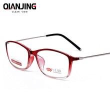 ¡Novedad! gafas QianJing TR90 cómodas, lupa de gran dureza, marco completo de espejo, gafas de lectura para Unisex, Vintage Leesbril