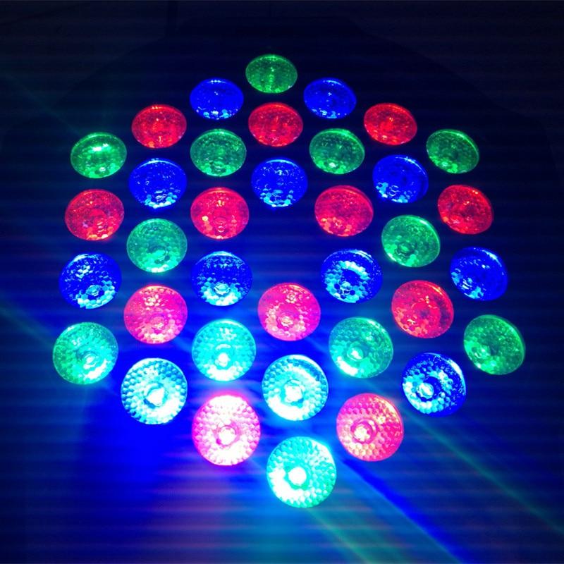 36LEDS LED PAR Lamp RGB LED Flat Par Light Stage Lamp AC90-220V for KTV Party Disco DJ Bar Effect UP Decorative Illumination w188a led rgb voice control stage light lamp for ktv bar party white