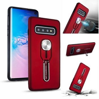 For Samsung Galaxy S10E S9 Plus S8 Case Hybrid Silicone PC Rugged Armor Magnetic Ring Stand Cover For Note 8 9 Shockproof Coque