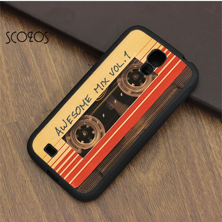 SCOZOS Awesome Mix Vol.1 compact cassette tap case for samsung galaxy S3 S4  S5 S6 S7 S8 S6 edge S7 edge note 3 note 4 note 5 ea42f1dd37a