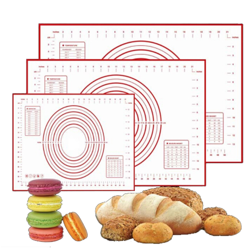 60 40cm non stick silicone baking mat sheet kneading rolling dough pad mat baking bakeware. Black Bedroom Furniture Sets. Home Design Ideas