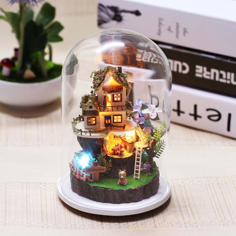 Model Building 2018 New Style Birthday/valentine/hallowmas/christmas Gifts Diy 3d Miniature Model Kits Assemble Toys Creative Diary Dollhouse Last Style Architecture/diy House/mininatures