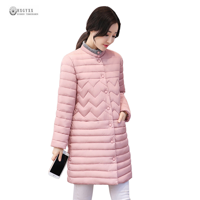 2017 wadded jacket thin medium-long fashion winter coat women stand collar cotton-padded parka female casual outerwear OK1000 winter thickening women parkas women s wadded jacket outerwear fashion cotton padded jacket medium long loose casual parka c1142