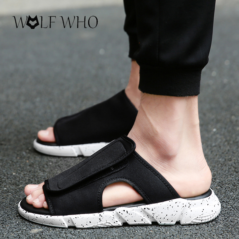 df0611740 Hot Sale! 2017 New Arrival Y3 Sandals KAOHE SANDALS hook-loop Men Slippers  Open-toed Leather Sandals Men Sandals Top Quality