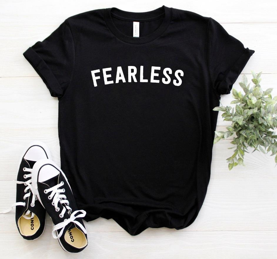 Fearless Women Tshirt Casual Cotton Hipster Funny T-shirt For Lady Yong Girl Top Tee Drop Ship ZY-143