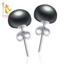 NYMPHPearl Earrings Sterling Silver Pearl Jewelry Natural Freshwater Pearl Stud Earrings For Women Fine Jewelry E25302
