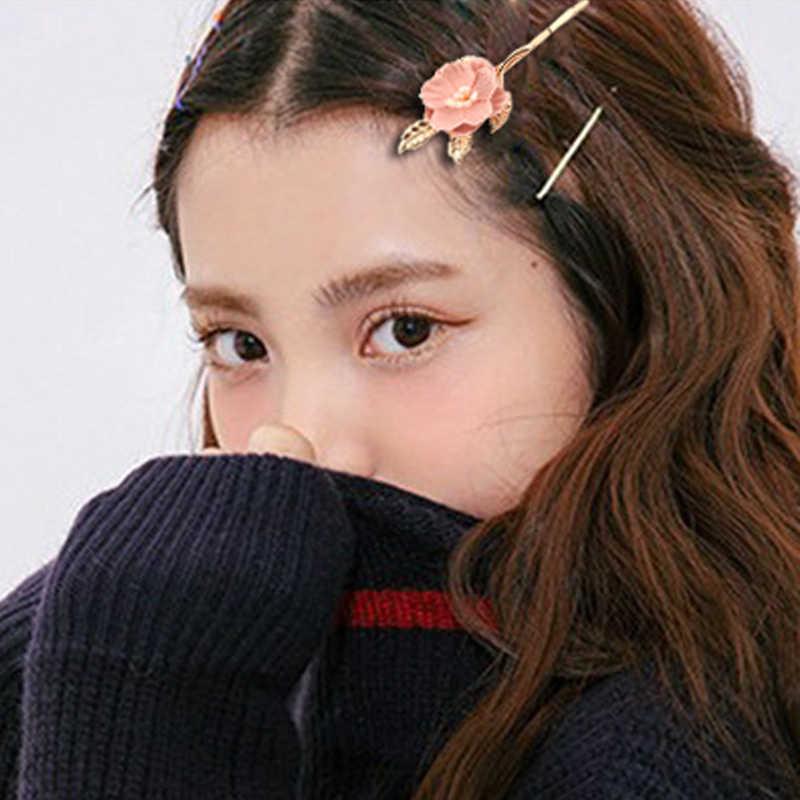 LNRRABC 1PC koreański kwiat dziewczyna klips do włosów słodkie słodkie ozdoby do włosów spinka do włosów klip folderu