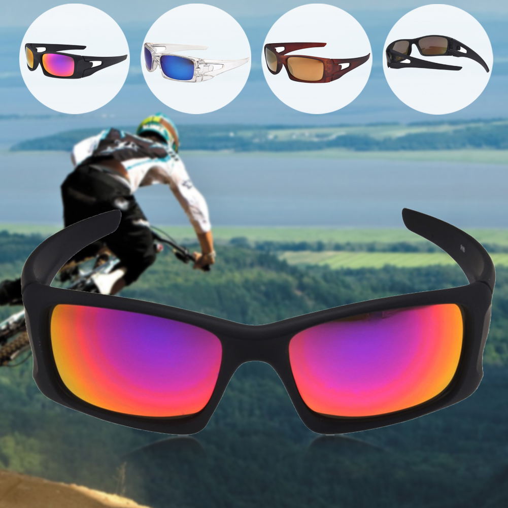 Full Glare Barrier Bike Bicycle Sunglasses Outdoor Sport Anti-UV Driving Glasses Eyewear Goggles For Cycling Riding Skiing