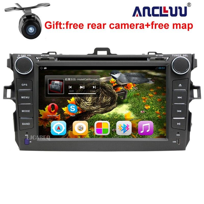 8 Android 7.1 Voiture Lecteur DVD GPS Navigation Pour Toyota Corolla 2006 2007 2008 2009 2010 2011 voiture raido stéréo avec CFC BT wifi