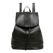 Рюкзак женский Для женщин подростков Сумки кожа Обувь для девочек Рюкзаки плечо студент Школьные сумки путешествия Bolsa feminina черный 2017 подарки
