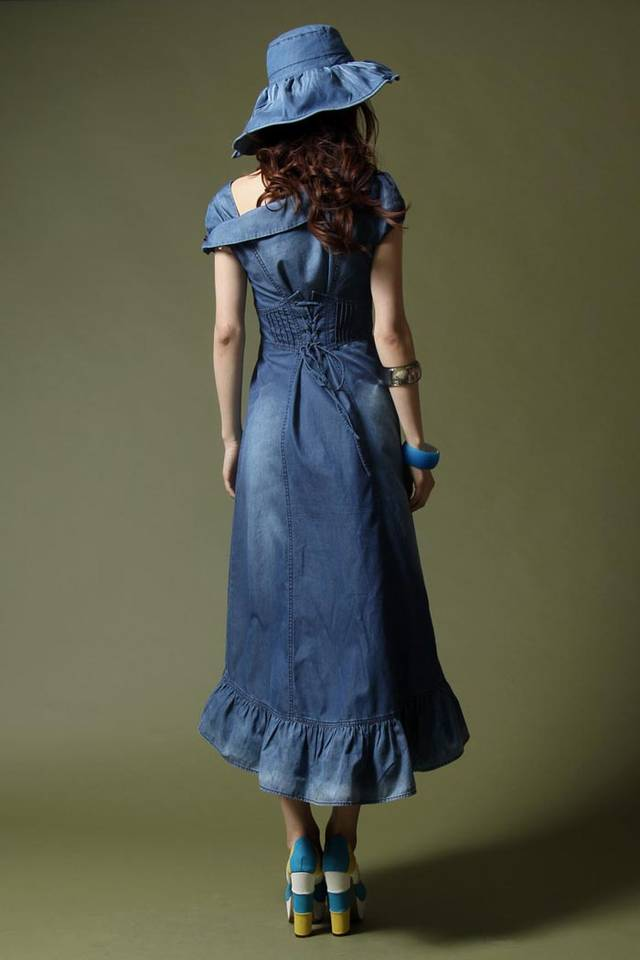 Maxi dress denim terbaru chanyeol