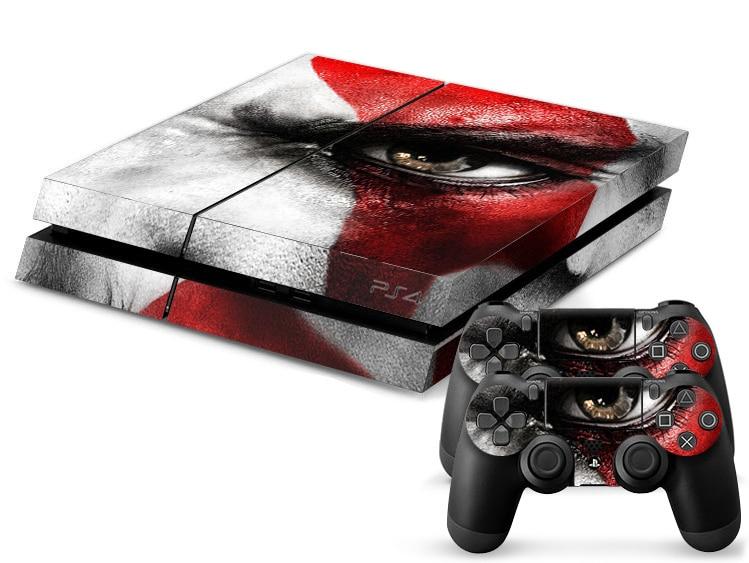 1Set God of War Skin Sticker For Sony Playstation 4 PS4