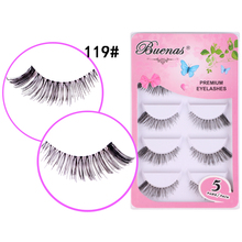 50 pairs Buenas 119 winged false eyelash 5 pairs/box thick pestanas full strip lashes eyelashes extensions soft cilios eye lash