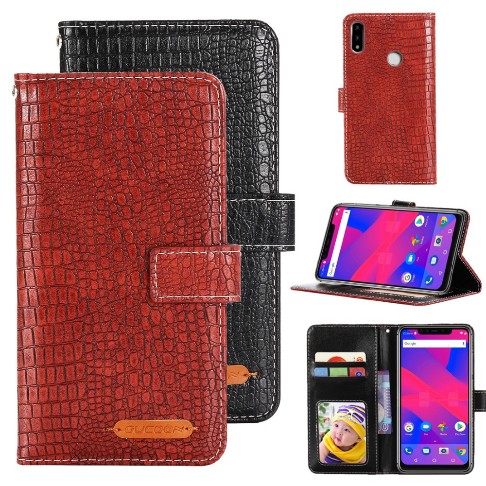 GUCOON Fashion Crocodile Wallet for Blu Vivo XI Case Luxury PU Leather Phone Cover Bag High Quality Hand Purse image