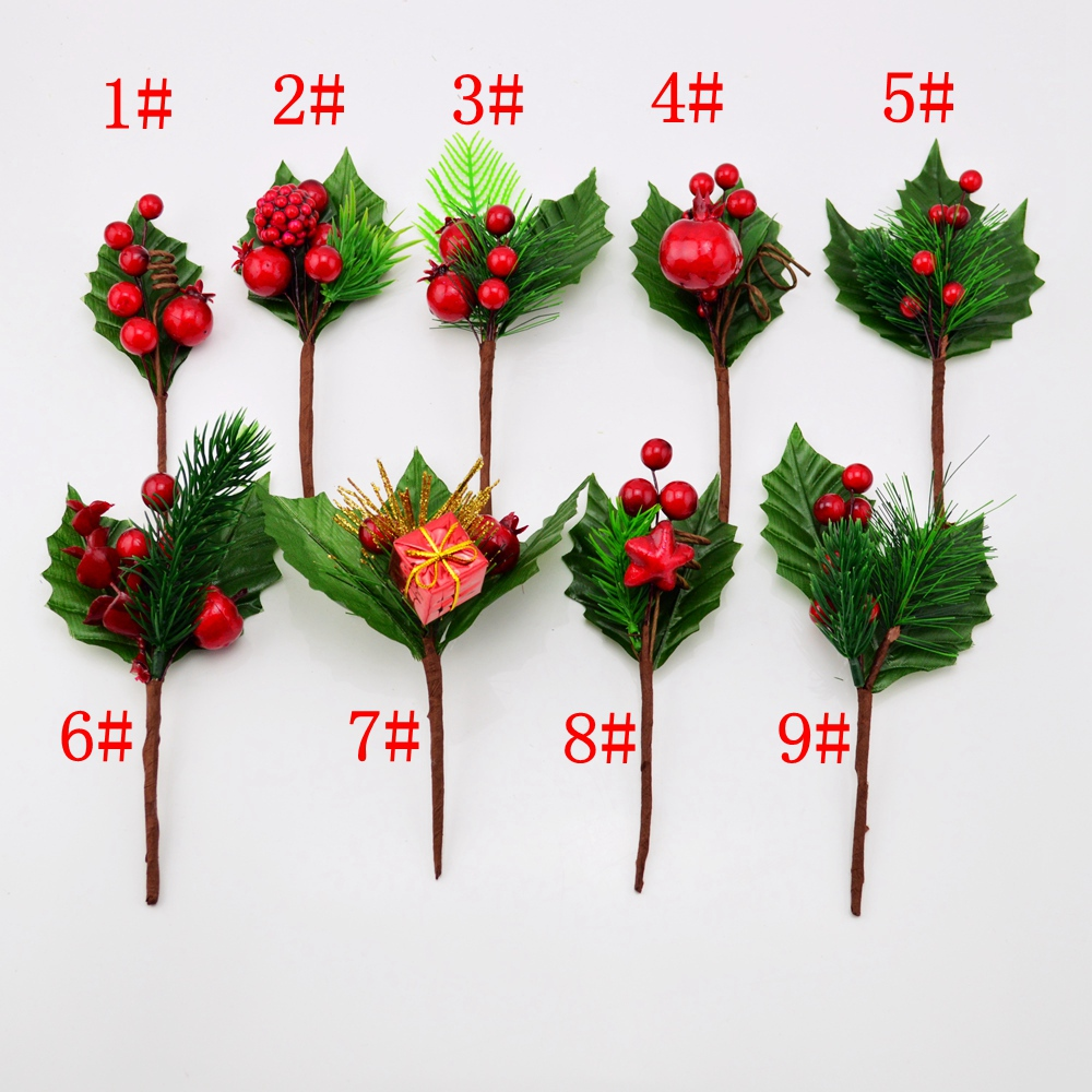 Artificial stamens flower leaf pine christmas crafts for Artificial decoration