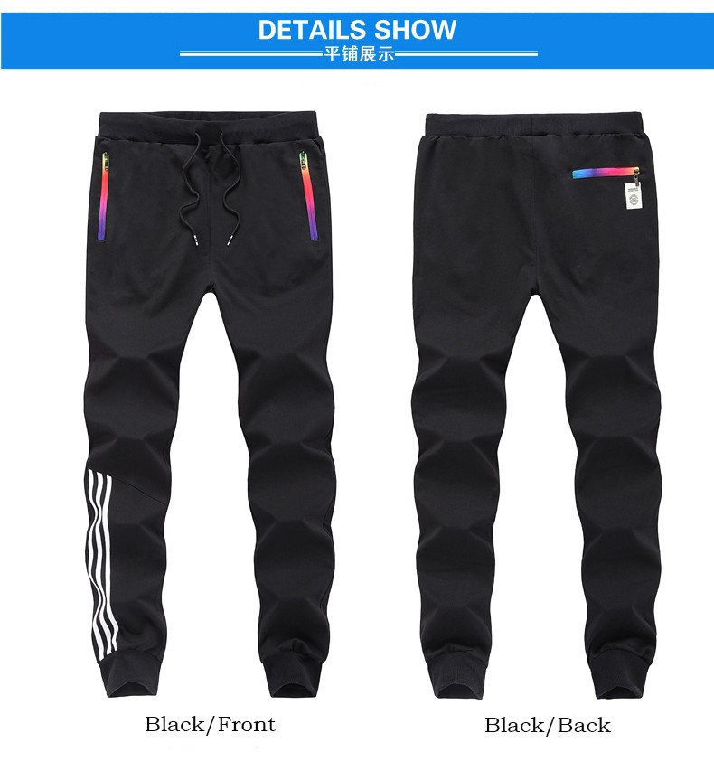 HTB1XBjFaffsK1RjSszbq6AqBXXaD Spring Summer Mens Pants Fashion Skinny Sweatpants Mens Joggers Striped Slim Fitted Pants Gyms Clothing Plus Size 5XL Harem Pant