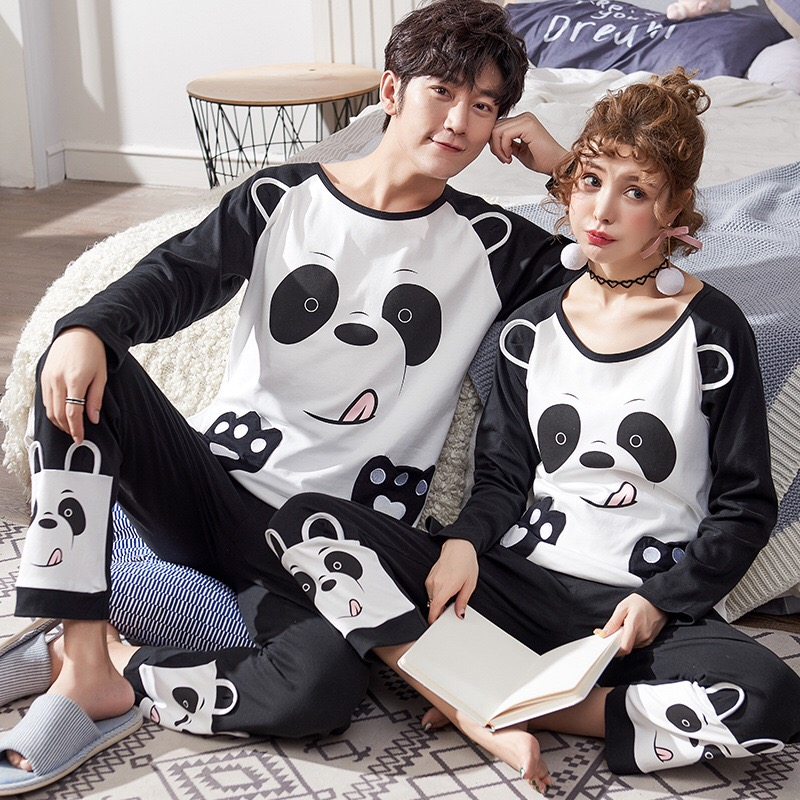 New Winter Cotton   Pajama     Sets   Couples Long Sleeve Male Sleepwear Round Neck Women   Pajamas   Pijama Pyjamas Men's   Pajamas   Homewear