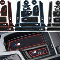 Non-Slip Para BMW Novo Série 3 F30 F35 320i 316i 328 LOGOTIPO palavras Em Adesivos de Carro Carro Almofada da Esteira do Copo Ranhura Portão Sulco Porta-Styling