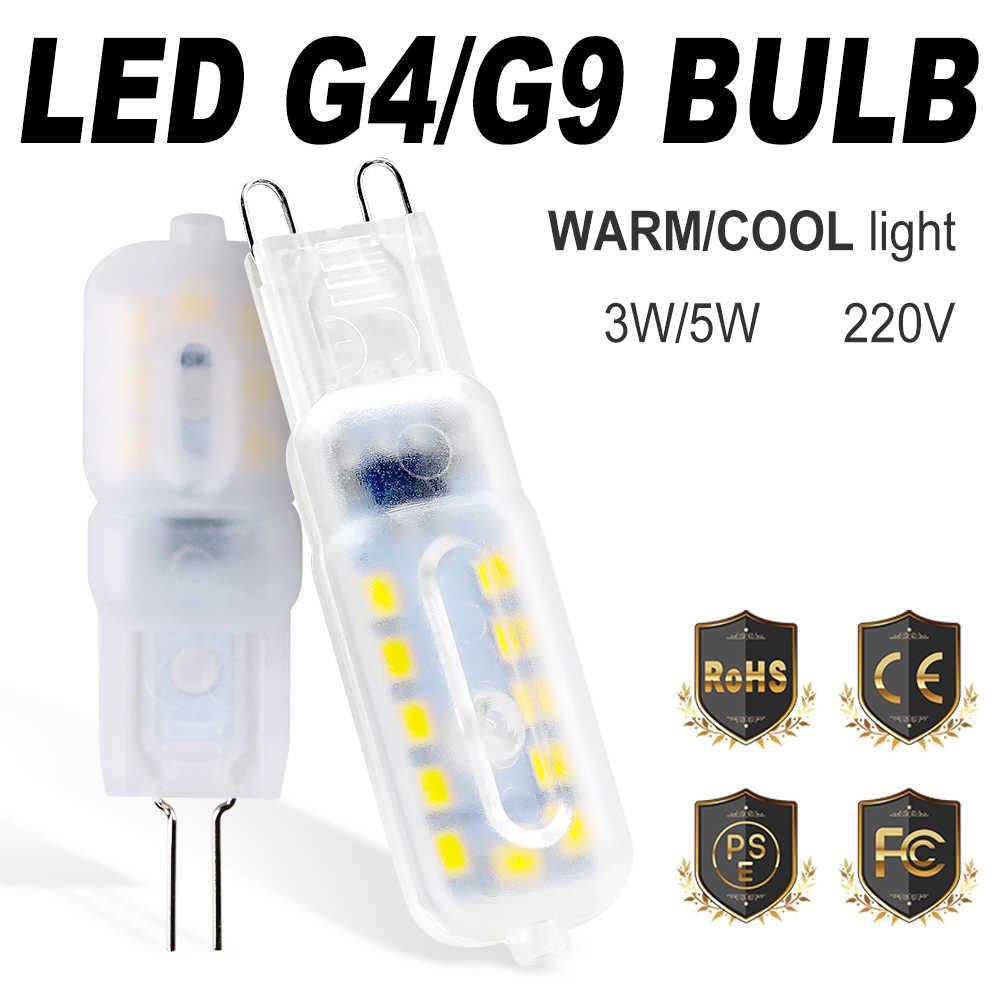 G4 Lampu LED 220V Jagung Cahaya G9 LED 3W 5W Lampada LED G9 Lampu Kristal 2835 Ampul LED Dekorasi Rumah Bombillas