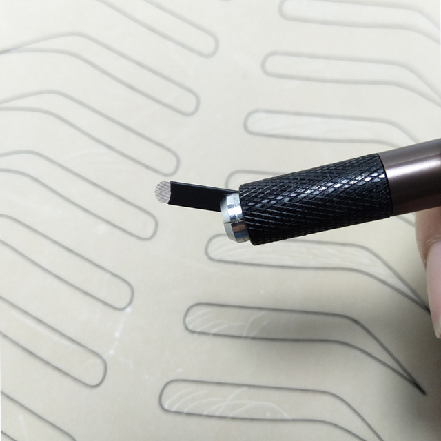 0.16mm 18 U-Shape Nano Microblading needle blade tattoo needles for Permanent Makeup Eyebrow tebori pen agulhas with Lot No. Exp 4