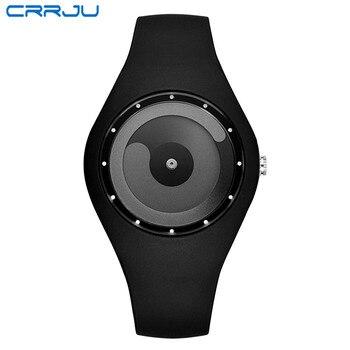 93d7f0ae3 Reloj de pulsera de cuarzo Masculino de silicona clásico para hombre, reloj  deportivo informal de moda para mujer, reloj de pulsera de marca CRRJU
