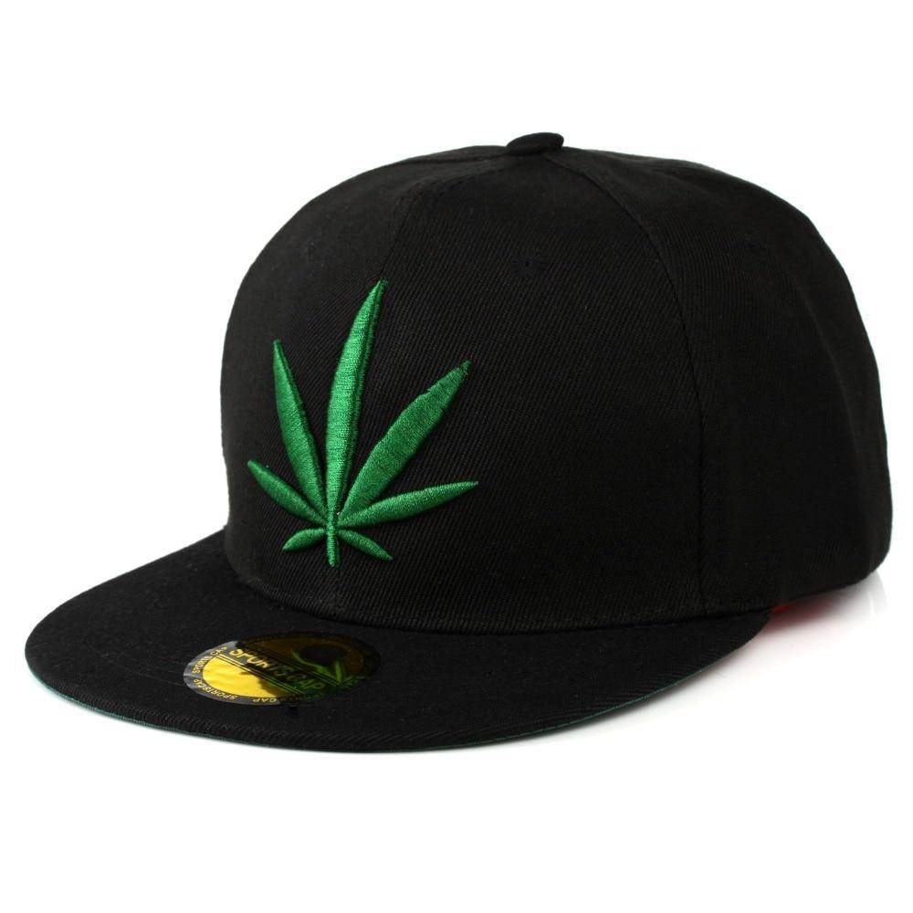 Fashion Weed Snapback   Caps   Hats Hip Hop   Baseball     Cap   Strapback Men Women Bone Aba Reta Gorras Homme Casquette Weed Leaf Snapback