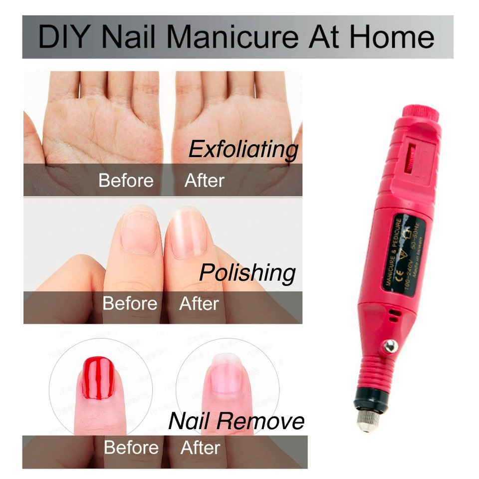 Nail Set LED Lamp Dryer & 12pcs Nail Gel Polish Kit Manicure Tools ...