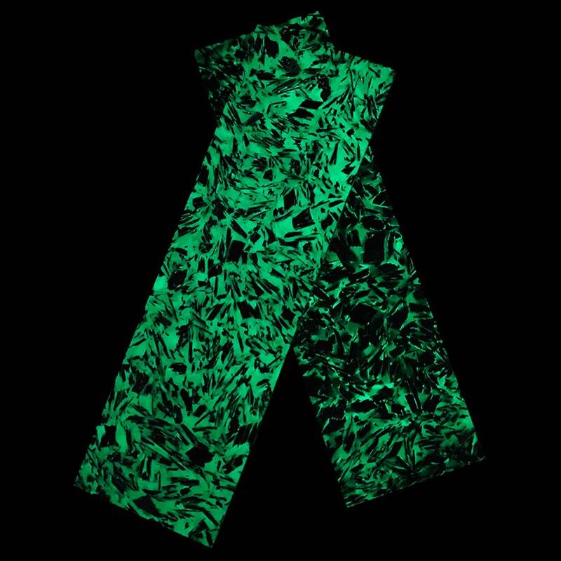 2 pièces Noctilucent marbré CF fibre de carbone bloc ondulation résine outil pour bricolage couteau poignée artisanat fournitures 137x40x8mm 167x50x10mm