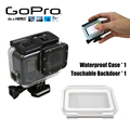 New 2016 GoPro 5 Accessories Waterproof Housing Case Diving 45M Protective + Touch Touchable Back Door For Go pro Hero 5 Black