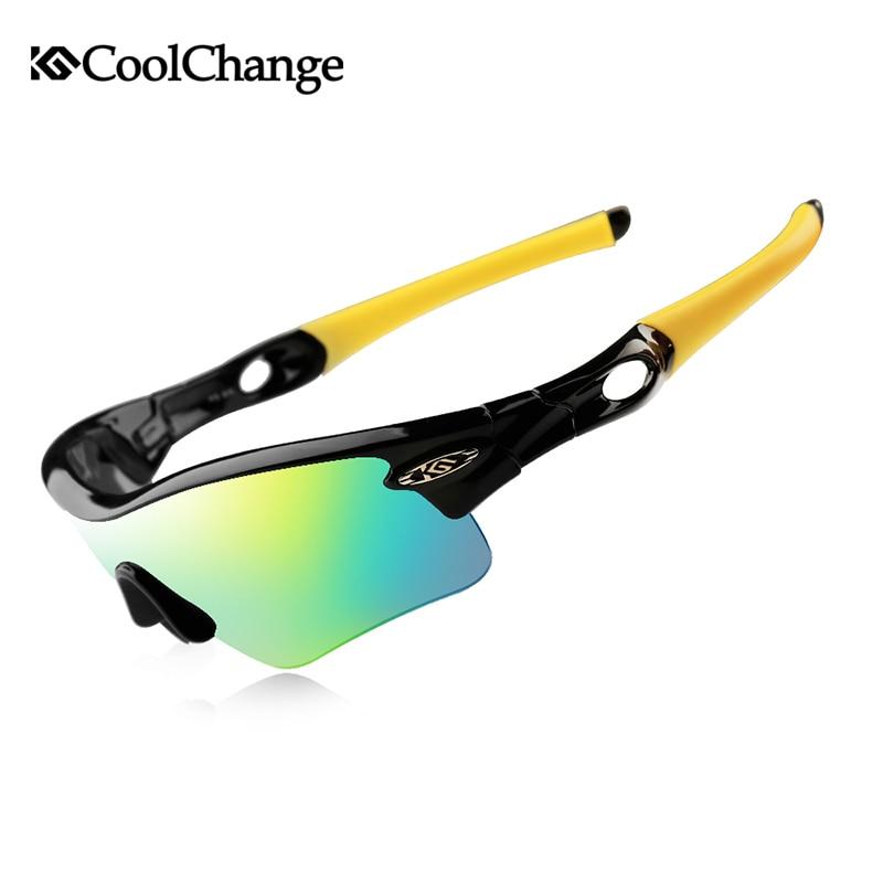 Syzet e çiklizmit CoolChange Syzet e diellit të polarizuara Bike biçikletë në natyrë Sportive në natyrë 5 Grupe të Lenteve Biçikleta Qerpikët Syzet e Miopisë
