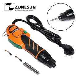 ZONESUN Electrical Screw Driver Handheld Barly Tool Including Charger Torque Electric Screwdriver 220V