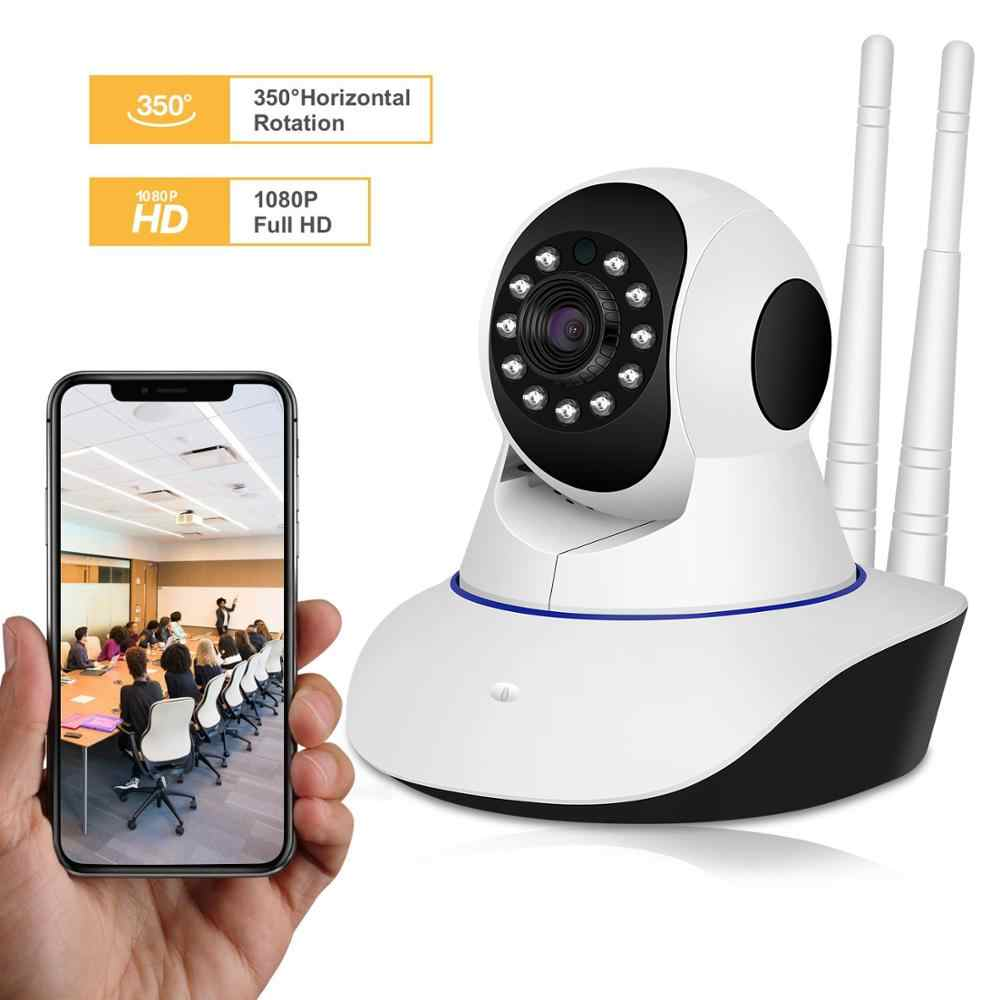 BESDER 1080P Dual Antanne Wireless IP Camera Smart WiFi IP Cam 360 Degrees Home Panoramic Night Vision Webcam Camcorder
