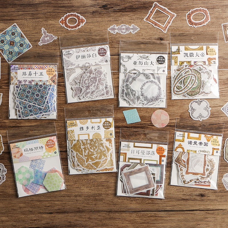 40pcs/1pack Kawaii Stationery Stickers Margaret Germanic Diary Planner Decorative Mobile Sticker Scrapbooking DIY Craft Stickers