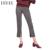 Hyh haoyihui moda mujeres pantalones a rayas flaco cremallera lateral de split delgado ol pantalón suave básica streetwear casual mujer pantalón