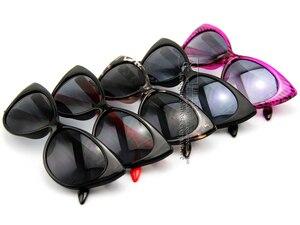 Image 2 - DHL/フェデックス送料無料サングラス女性ファッションセクシーなモッズシック Rtro ブランドメガネ猫目サングラス UV400 CE DT0170
