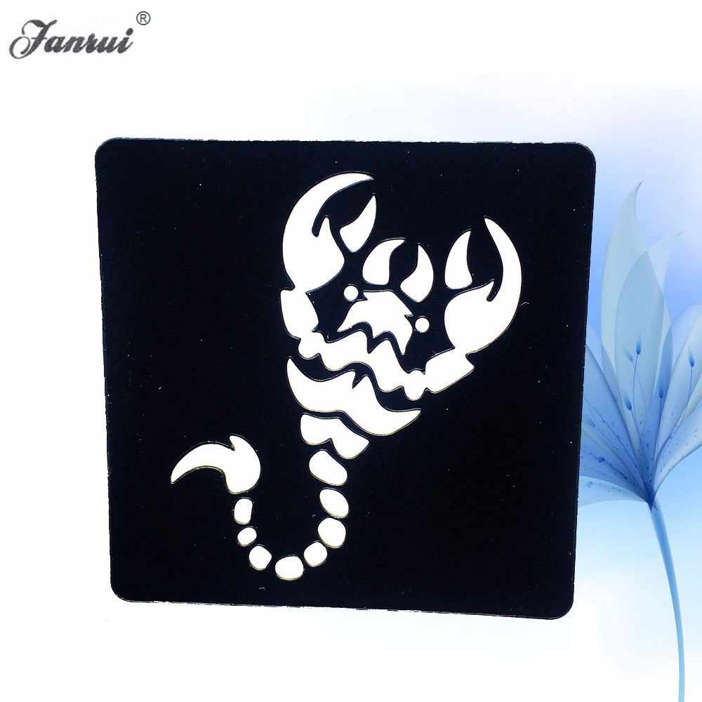 Body Art Paint Henna Tattoo Stencil Scorpion Patroon Tekening Beauty Vrouwen Voeten Hand Art Template Tattoo Stencil Gift AG04