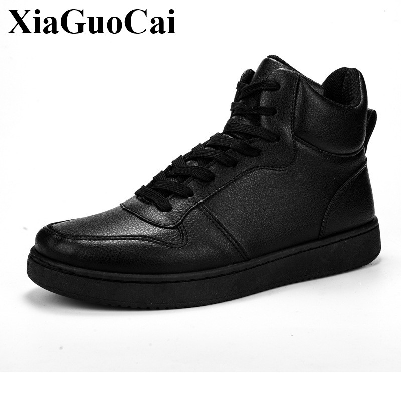 New High-top Sneakers Men Casual Shoes Black White High Quality Wear-resistant Lace-up Comfortable Round Toe Flat Shoes H603 gram epos men casual shoes top quality men high top shoes fashion breathable hip hop shoes men red black white chaussure hommre