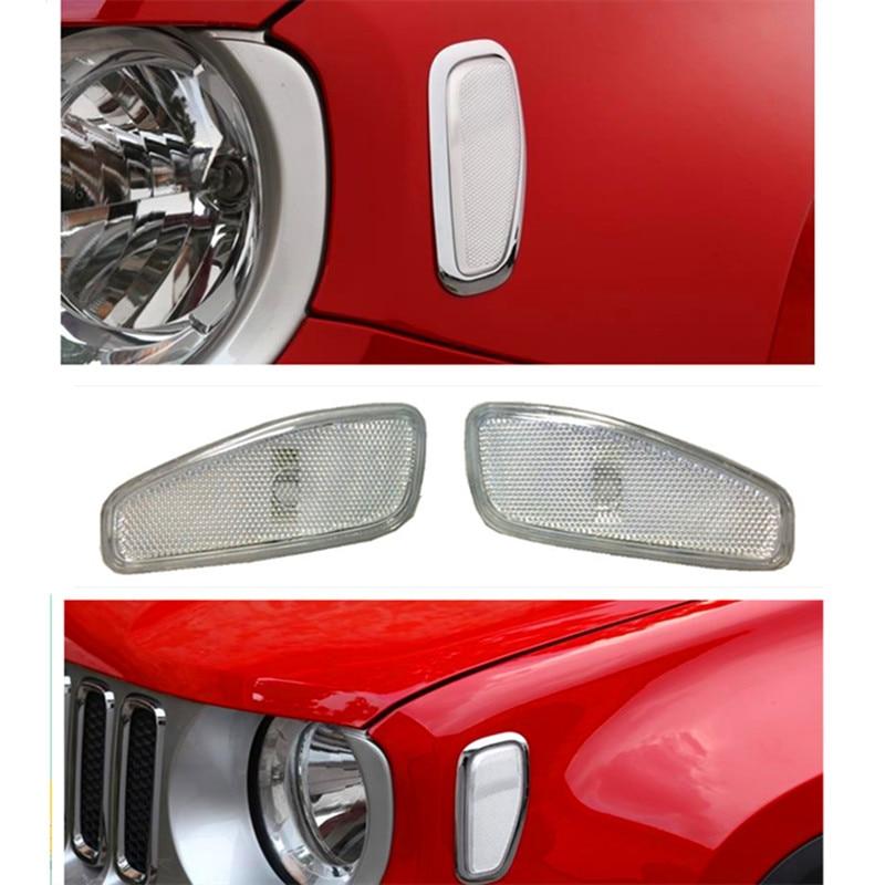Боковые сигналы поворота свет стайлинга автомобилей, пригодный для джип Ренегат Глава лицевая сторона отражение предупреждение поворотник боковой сигнал свет лампы