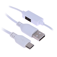 1m OTG Cable Adapter Dual Micro USB Charger Date Sync Cord For Android Phone Tablet PC