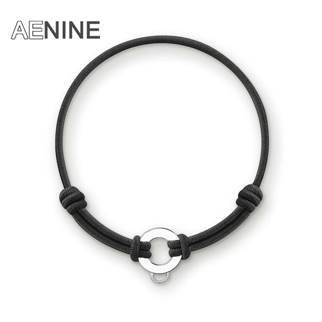 AENINE Trendy Colorful Cotton Rubber Girls Bracelets Bangles Jewelry Adjustable