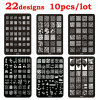 Hot 10pcs Nail Art Template Lace Flower French Design DIY Stencil Stamp Plates Polish Stamping Nail