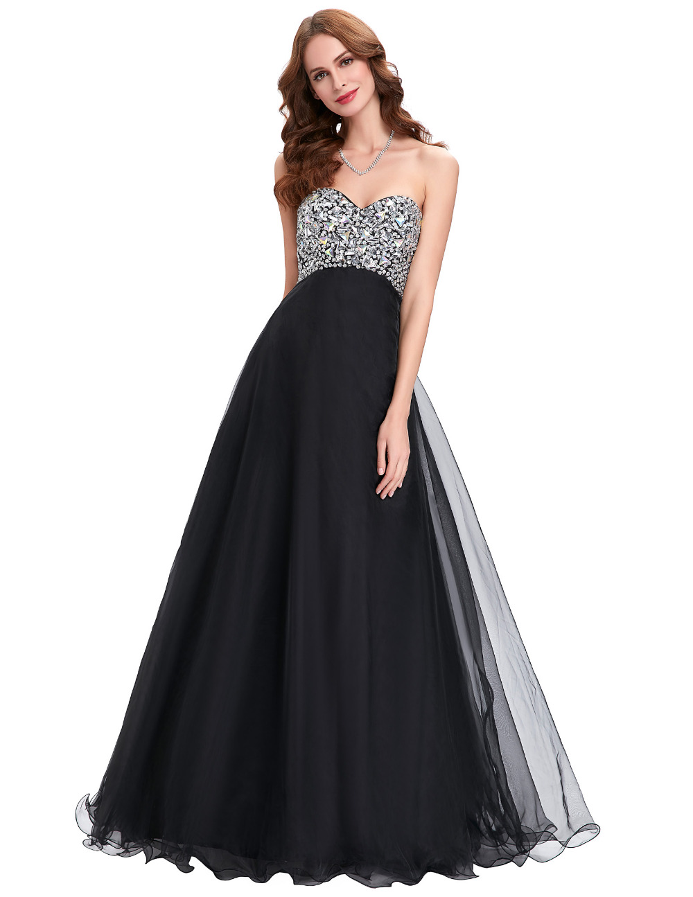 Elegant Black Evening Gown Dress