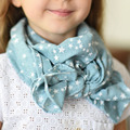 Fashion style children warm cotton linen scarf art classic print star scarf 5 colors