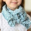 Fashion style children warm cotton linen scarf art classic print star scarf 5 colors